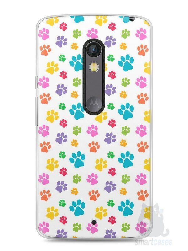 Capa Capinha Moto X Play Patinhas Coloridas #1 - SmartCases - Acessórios para celulares e tablets :)