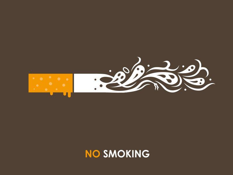 Smoke Design, Smoke Logo, Anti Smoking