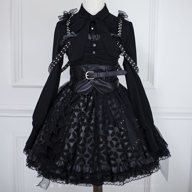 Dream Ticket -The Devil's Rock and Roll- Gothic Halloween Lolita Blouse #rockandrolloutfits