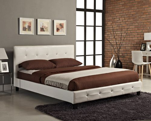 Details About Black White Brown Diamante Bed Frame Faux Leather