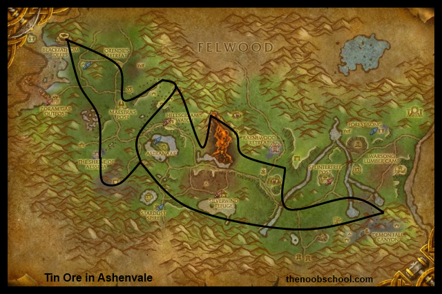 Wow silver ore mining map warcraft horde world of warcraft horde wow silver ore mining map warcraft horde malvernweather Choice Image