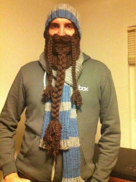 hahahahhaaa (With images) | Knitted beard, Beard beanie ...