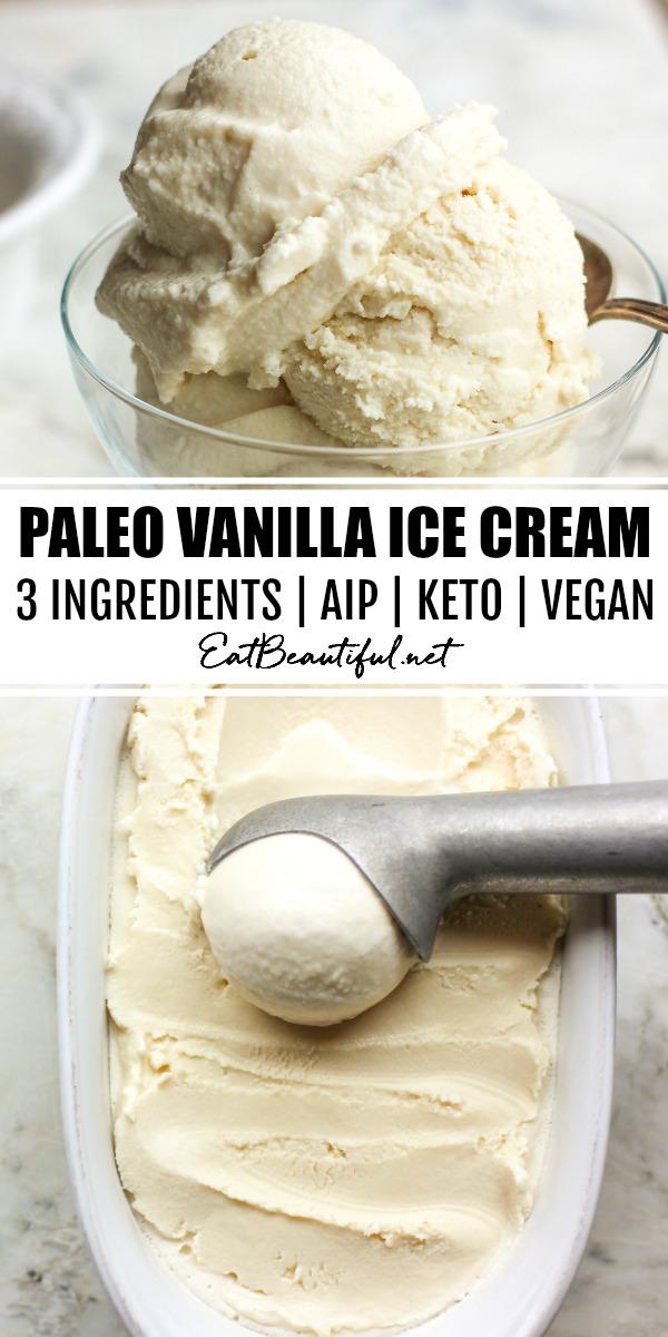 Paleo Vanilla Ice Cream (AIP | Vegan | Keto)