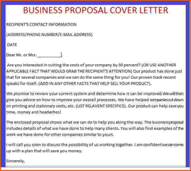 sample business plan cover letter proposal letters | Home Design ...