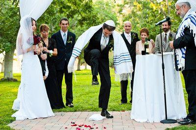 Jewish Wedding Breaking Gl Google Search