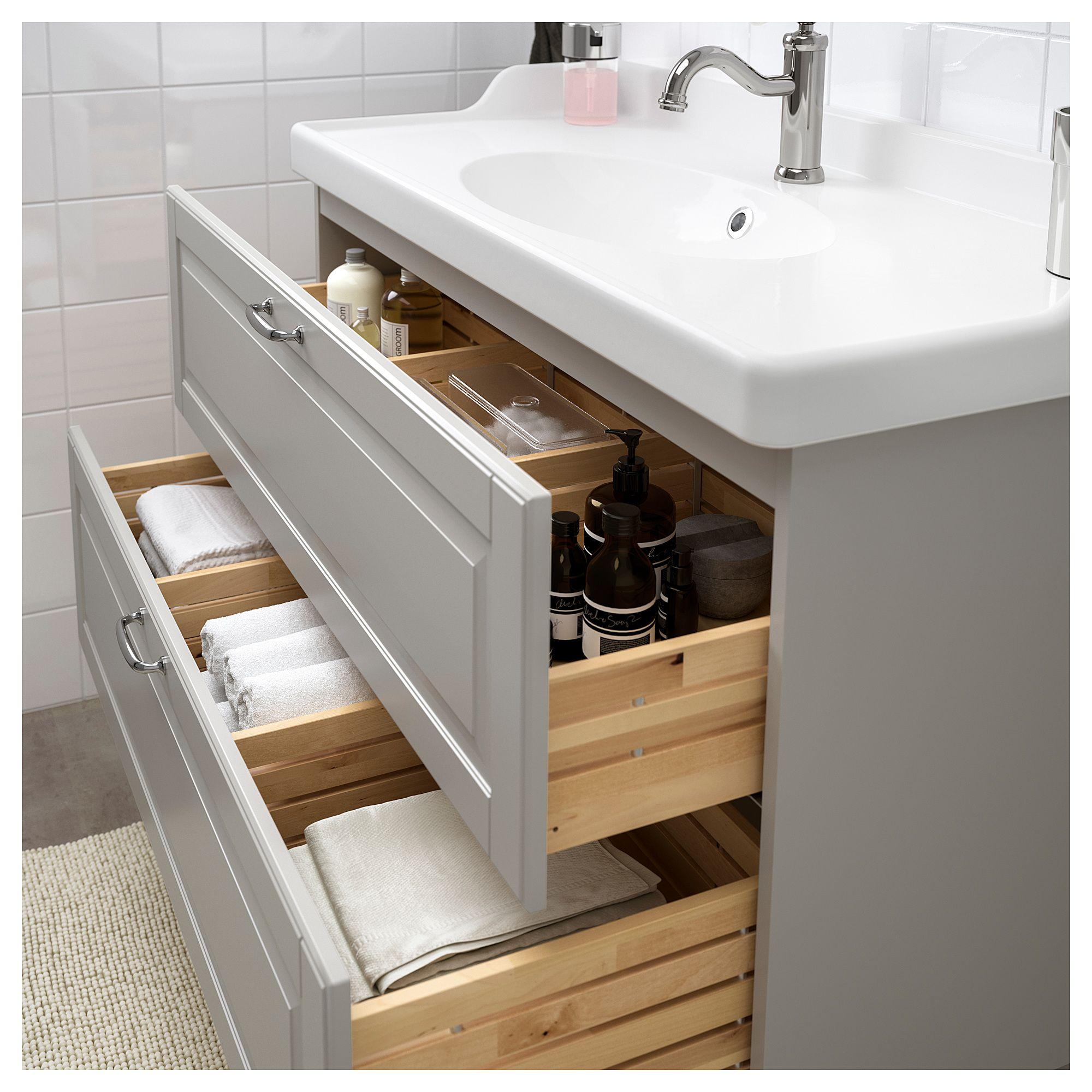 Surprising Godmorgon Rattviken Sink Cabinet With 2 Drawers Kasjon Home Interior And Landscaping Eliaenasavecom