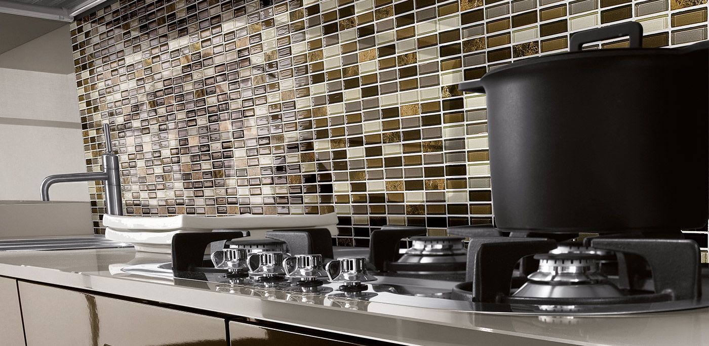 Mosaikfliesen in der Küche  Fliesenspiegel, Fliesen küche