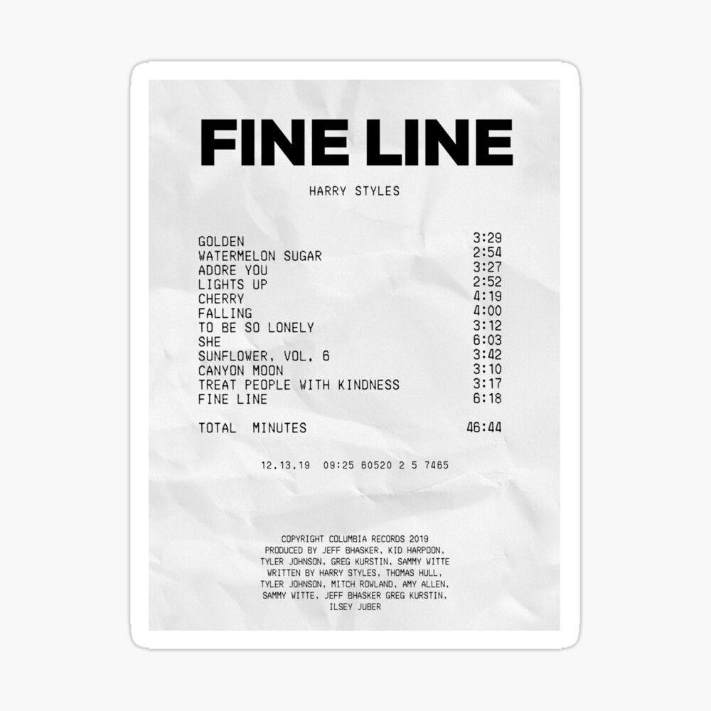'album receipt' Glossy Sticker by Jenna Gardner