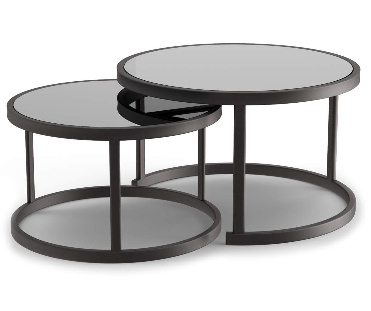 Wilson Fisher Lakewood Double Round Nested Coffee Tables Set Big Lots Patio Furniture Collection Coffee Table Coffee Table Setting [ 1006 x 1200 Pixel ]