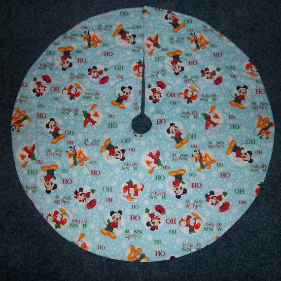 Mickey Mouse Disney Christmas Tree Skirt Handmade And By Krissyde
