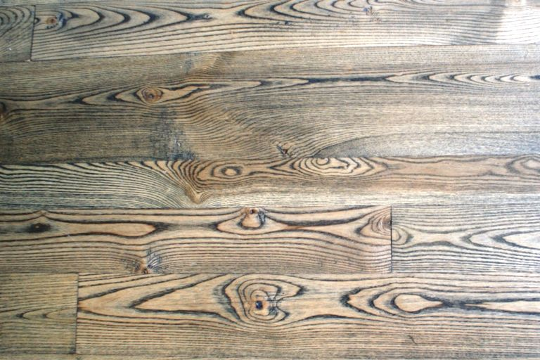 Ash Wood Planks ~ Our natural grade ash wood flooring with an ebony stain