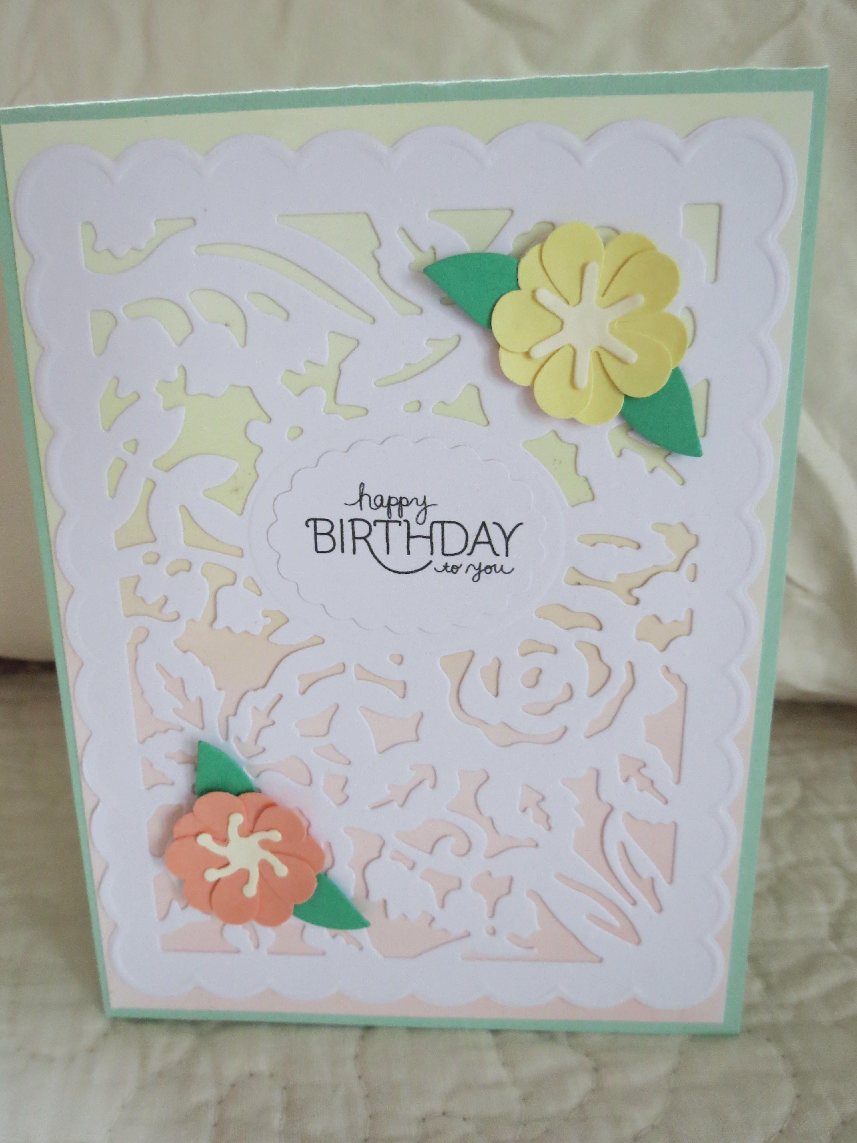 birthday card Spellbinders Flower Garden die Cards made by Barb