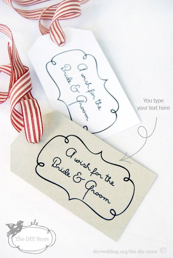 Gift Tag Template Editable Swirly Frame Tag Template Design