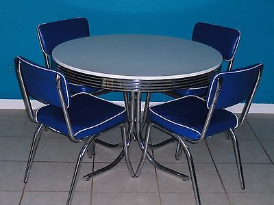 5 Piece Retro Dining Table And Chairs | EBay