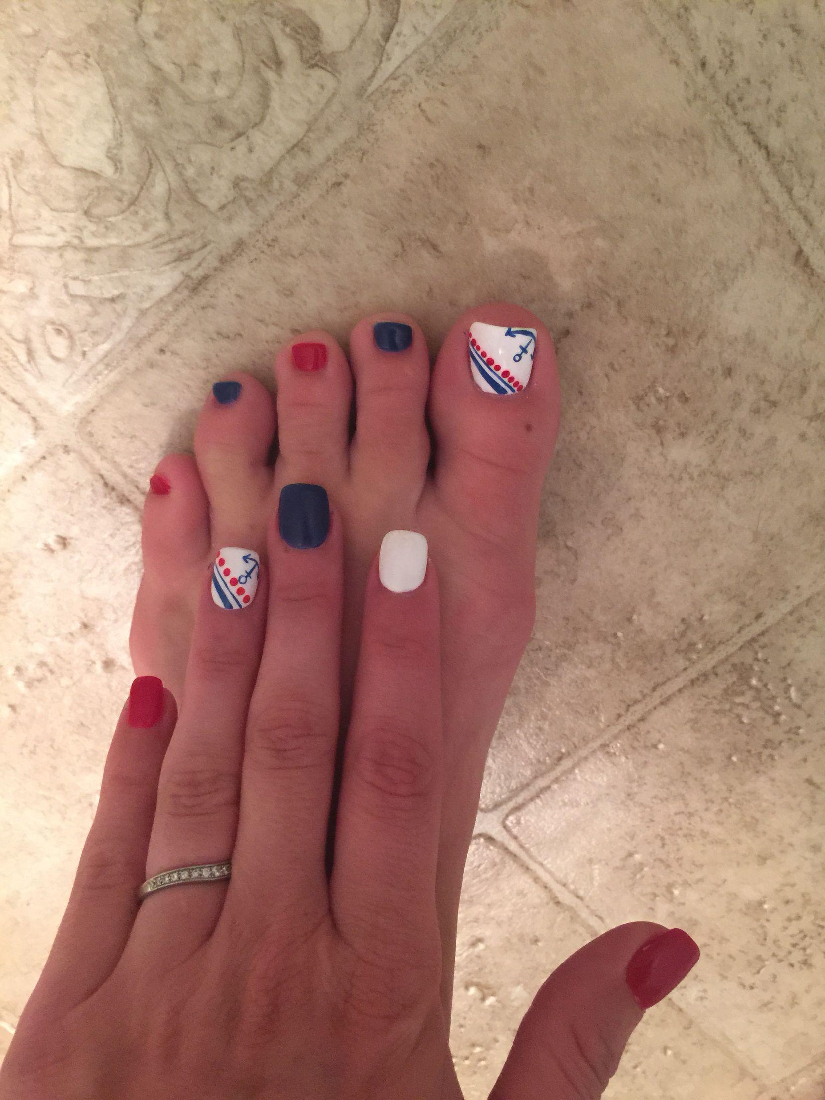 Festive forth of July Nails! | Fashion | Pinterest | Haar und beauty ...