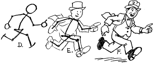 Drawing Cartoon Figure People Running