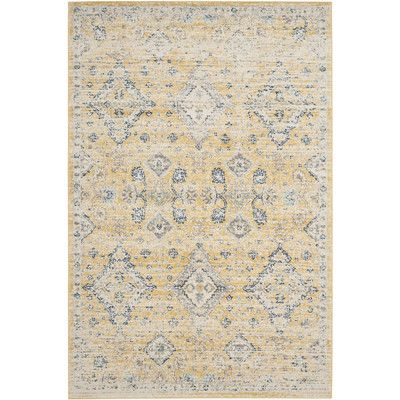 Found it at Wayfair - Ruthie Hand-Loomed Gold/Ivory Area Rug