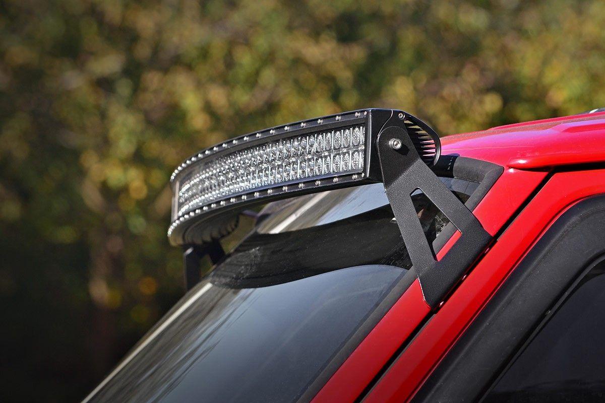Jeep 50 Inch Curved Led Light Bar Upper Windshield Mounts 84 01 Xj Cherokee Jeep Xj Jeep Cherokee Jeep Cherokee Xj