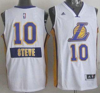 ... Los Angeles Lakers Jersey 10 Steve Nash Revolution 30 Swingman 2014  Christmas Day White Jerseys ... 289291200