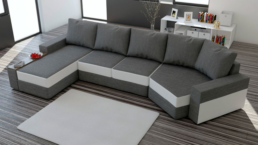 couch garnitur ecksofa sofagarnitur sofa rosi u wohnlandschaft schlaffunktion wohnideebilder. Black Bedroom Furniture Sets. Home Design Ideas