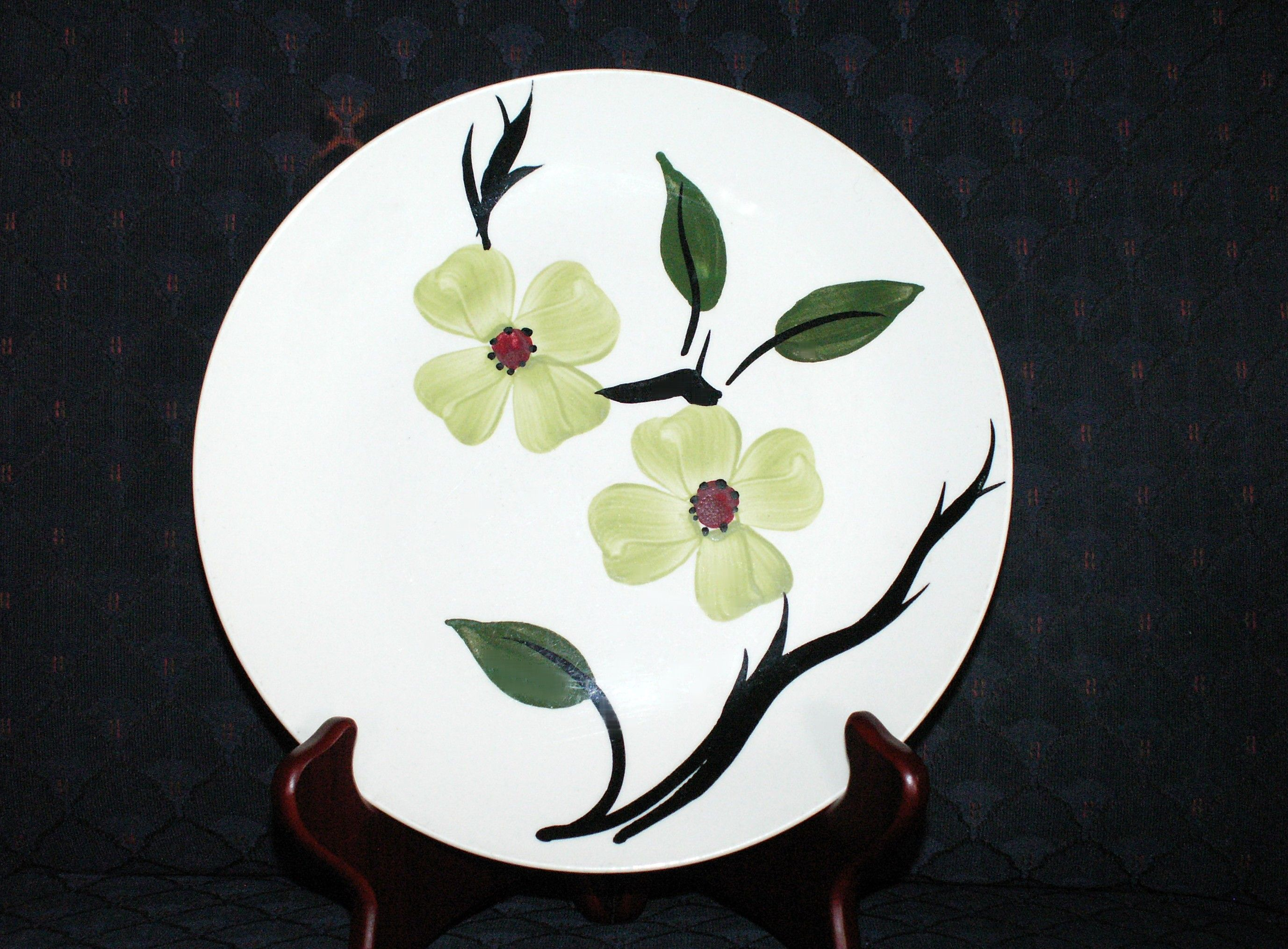 Blue Ridge Pottery Dixie Dogwood Luncheon Plates