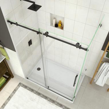 Sen984 Coraline Coraline Xl Frameless Sliding Shower Enclosure With Starcast Coating In 2020 Frameless Shower Doors Tub Doors Corner Shower Enclosures