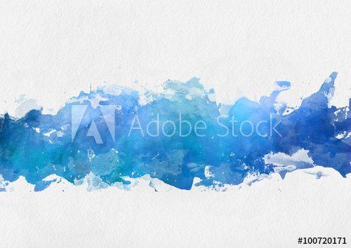 Artistic Blue Watercolor Splash Effect Template