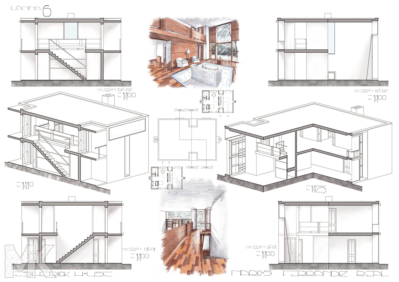 Markitecto » ESHERICK HOUSE | PLANOS | Pinterest | Esherick house ...