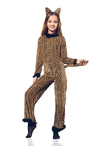 Girls Saucy Leopard Safari Cheetah Cat Cougar Kitty Dress Up Role ...