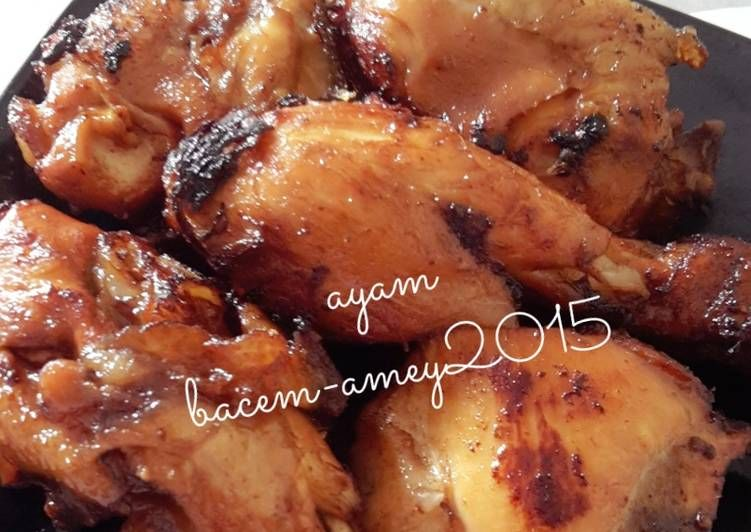 Resep Ayam Bacem Uenakkk Oleh Amei Resep Resep Ayam Resep Makanan Sehat Makanan Dan Minuman