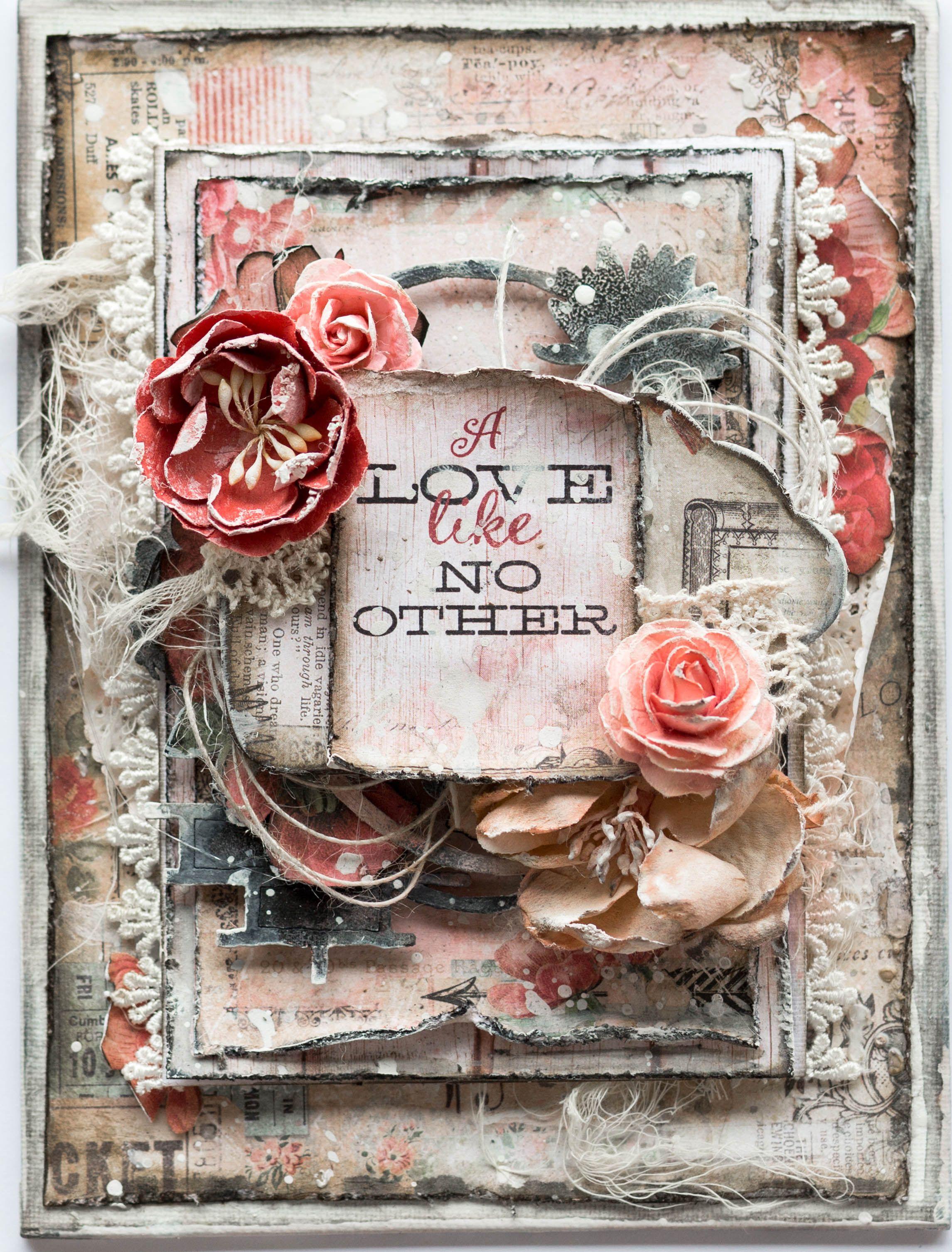 Scrapbook ideas with no photos - A Love Like No Other Canvas Scrapbook Com