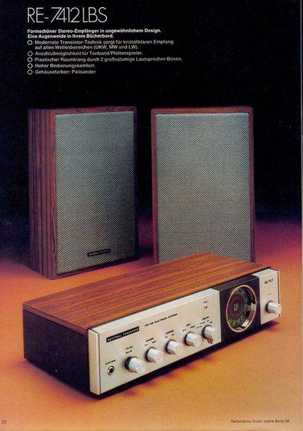 1974 National Panasonic Re 7412 Lbs Vintage Electronics Hifi Audio Stereo Turntable