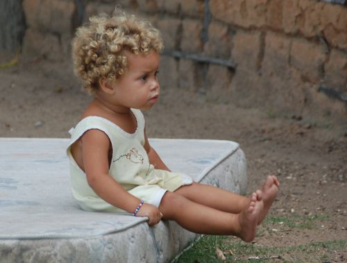 mixed baby | Tumblr Black baby, blonde hair