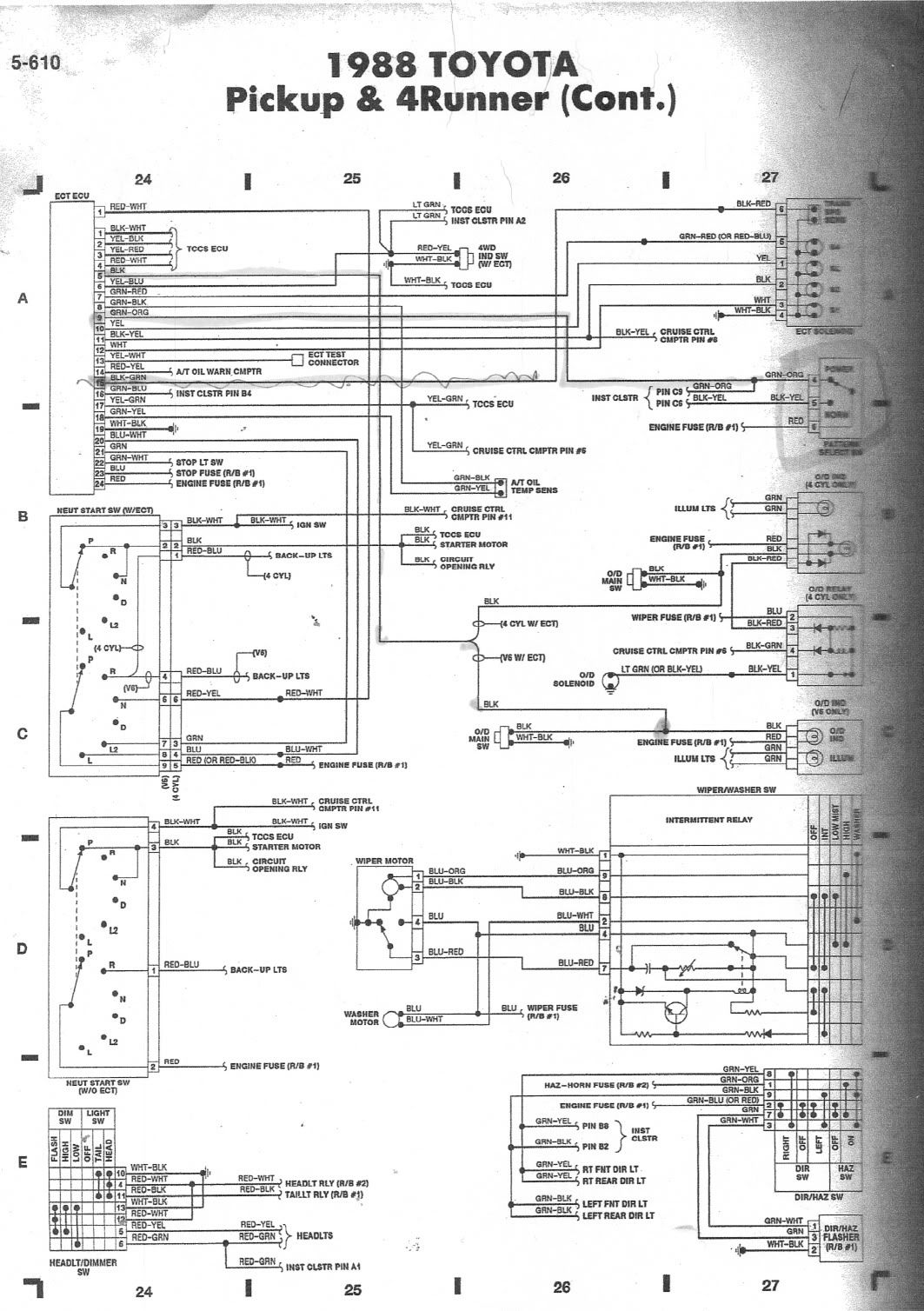 '88 3VZE 5-speed wiring diagram help. - Page 2 - YotaTech Forums. '