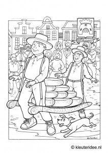 coloring alkmaar kleuterideenl alkmaar coloringholland street scene cheeses netherlands amsterdam