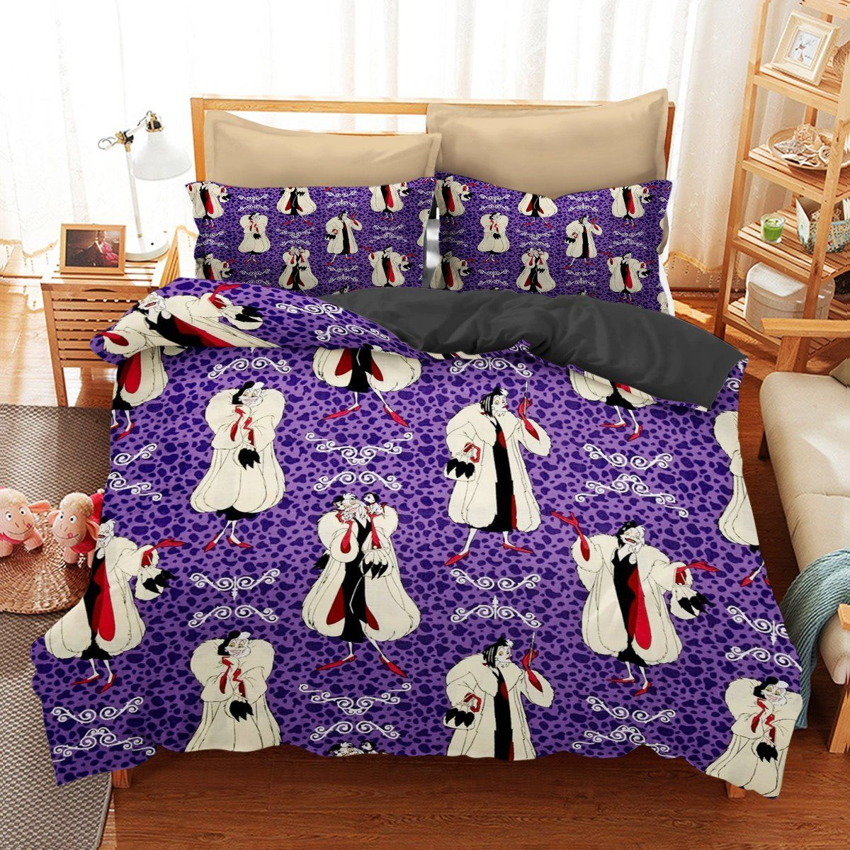 Bedding set disney villains funny gift idea