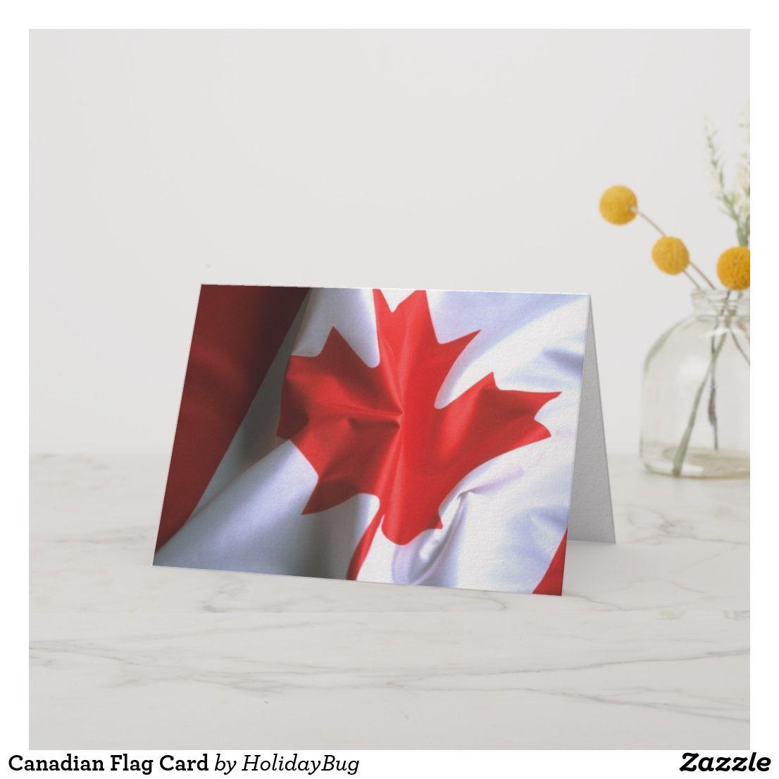 Canadian flag card canadian flag flag cards