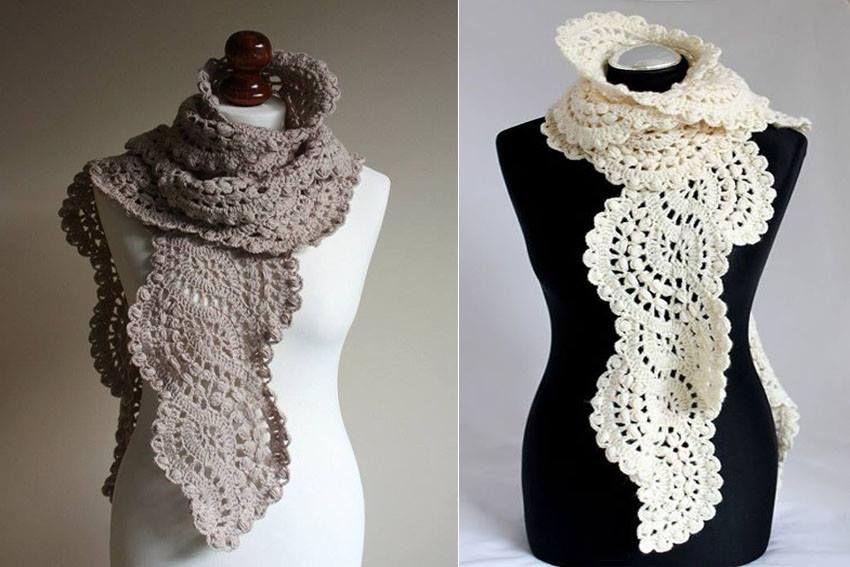 bufanda 1 | crochet, patrones gratis | Pinterest | Crochet patrones ...