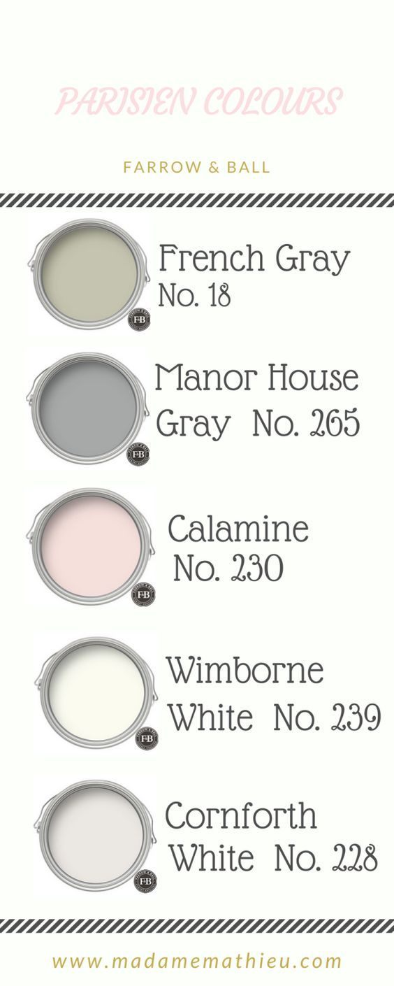 Colour Palette For Parisien Chic French Interiors Color Farrow And Ball Colours Gray Grey Blush Pink Golds Whites Neutrals Tones