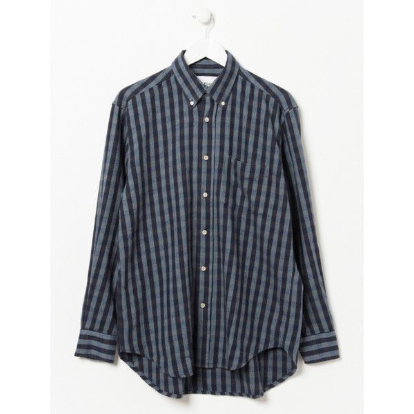 Navy Original Gingham Button Down Shirt (1,155 HKD) ❤ liked on ...