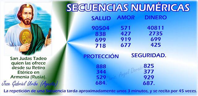 ANGEL DORADO ASCENSION JUNTOS A LA MADRE TIERRA GAIA: Secuencias Numéricas,  San Judas Tadeo quien las o...