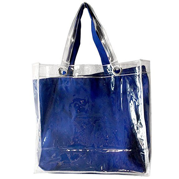 09b4d1c396cd Amazon | 透明ビニールバッグ&トートバッグ セット (カナリアイエロー) | エコバッグ・買い物バッグ