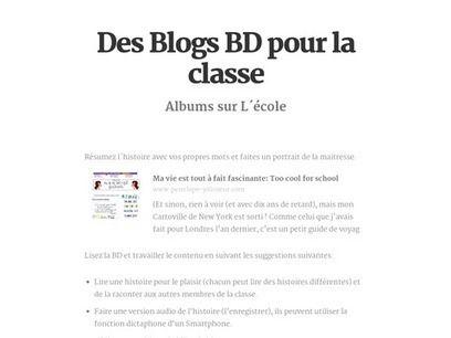 Des films, videos, Blogs BD pour la classe   fleenligne   Scoop.it