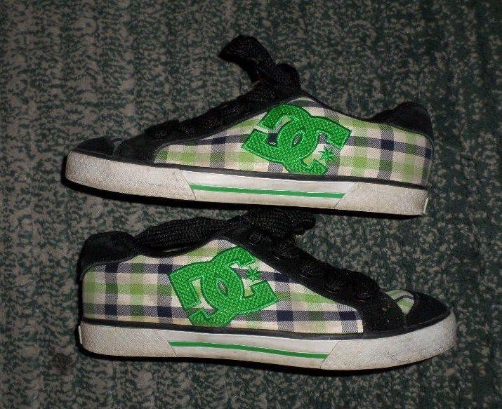 Women's Green & Black DC SHOES Plaid Fashion Sneakers