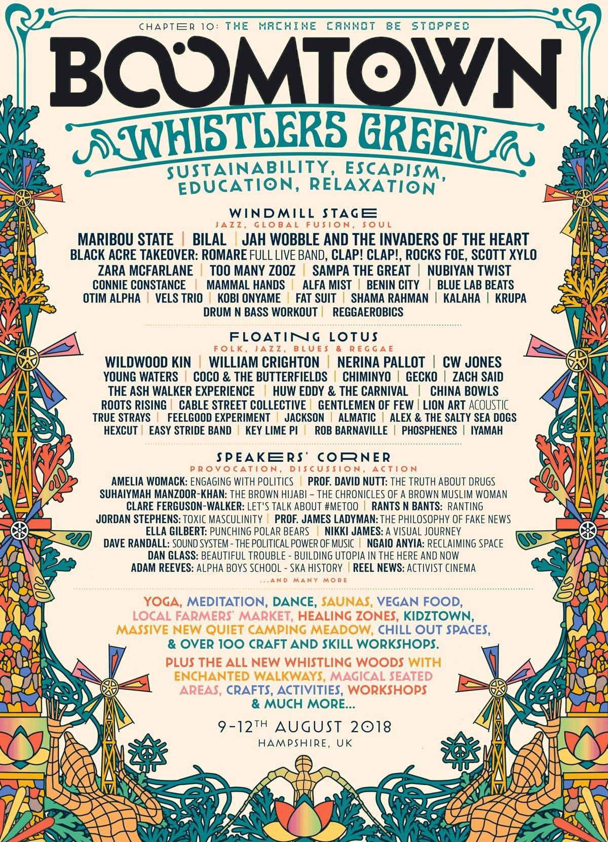 2018 lineup posters boomtown chapter 10 the machine