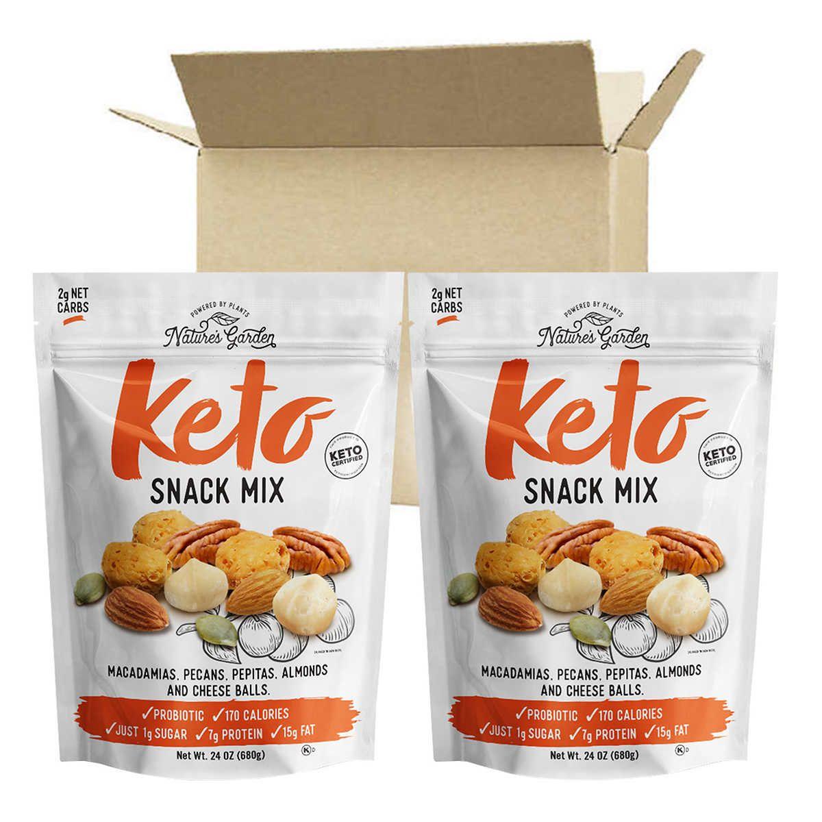 Nature S Garden Keto Snack Mix 24 Oz 2 Pack In 2021 Keto Snacks Snack Mix Snacks