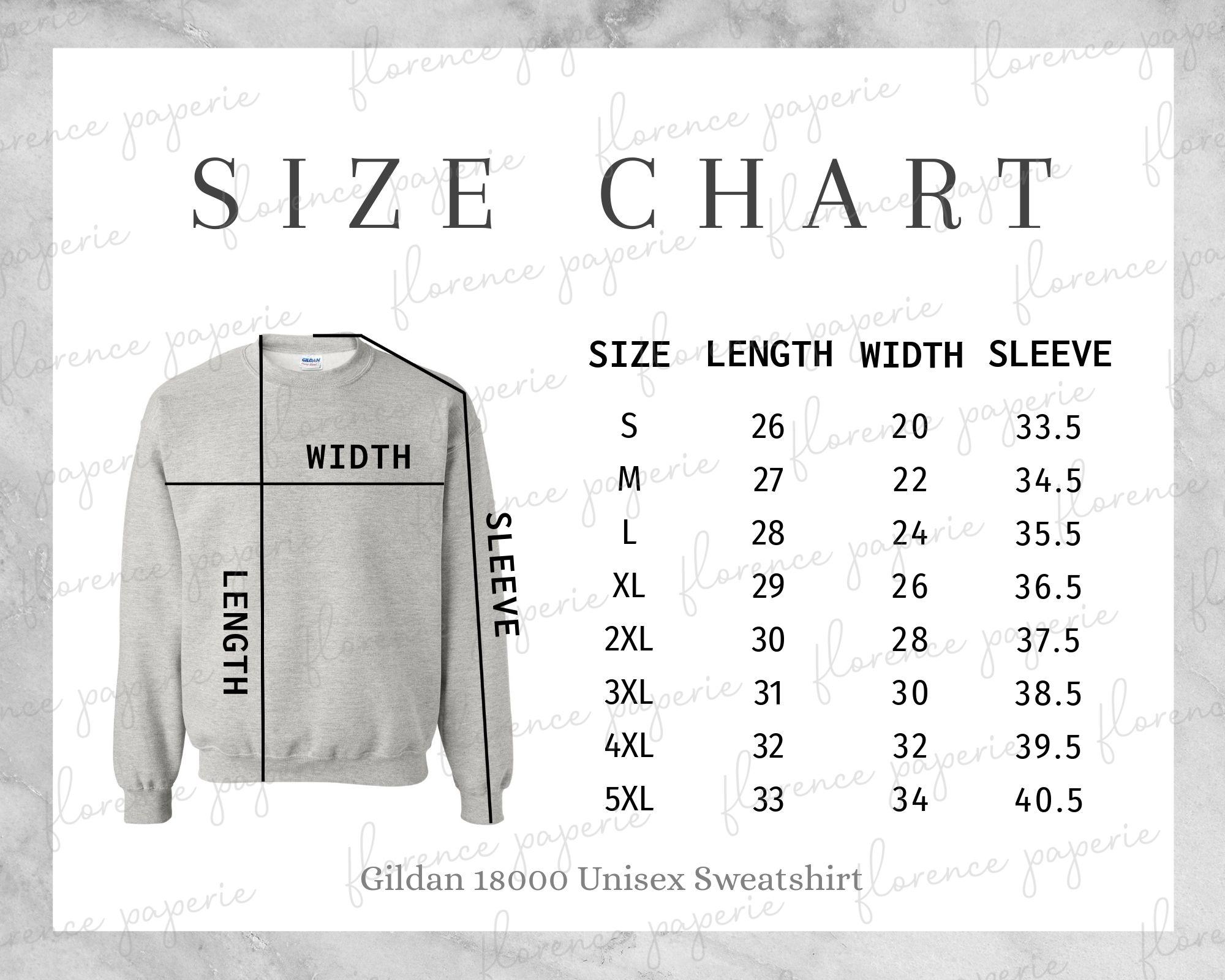 Gildan 18000 Sweatshirt Size Chart Unisex Crewneck Sweatshirt Mens Size Chart Womens Si Shirt Sewing Pattern Long Sleeve Tshirt Men Kalamkari Blouse Designs [ 1600 x 2000 Pixel ]
