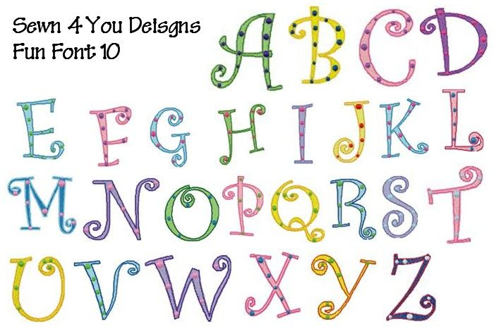 Funny Fonts | Fun Font Pack 10 Large | Typography | Pinterest ...