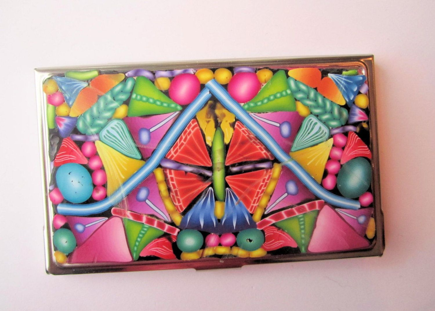 Business Card Case, Credit Card Case, Metal Card Case With Intricate ...