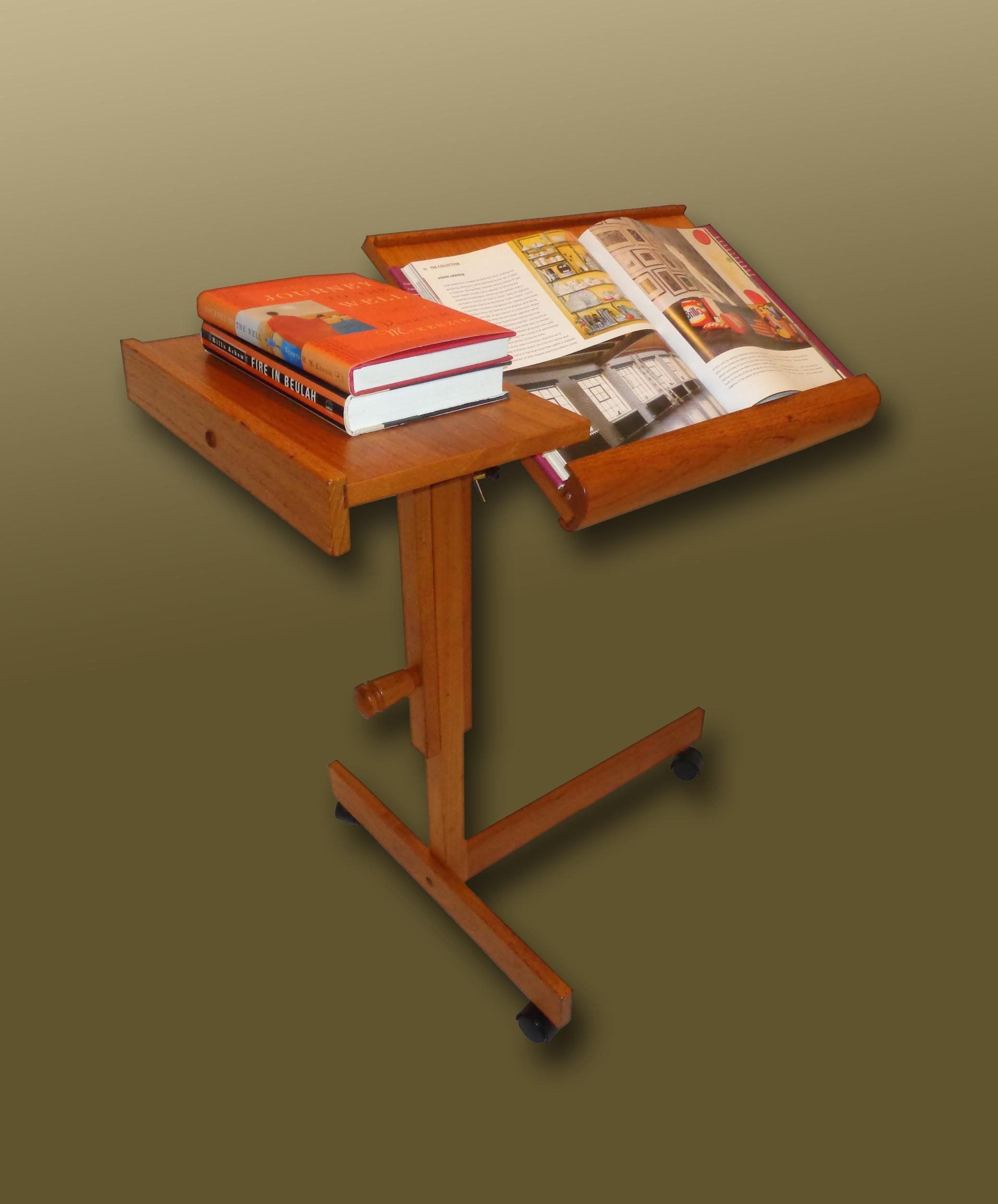 Levenger adjustable teak reading table made in denmark sold